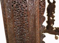 Burmese Davenport Desk Antique Hand Caved Burma Furniture 1885 (2 of 11)