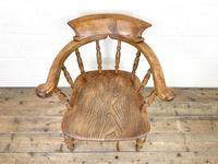 Antique Beech & Elm Smoker's Bow Chair (4 of 8)