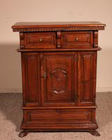Small Italian Renaissance Credenza in Walnut c.1600 with Coat of Arms