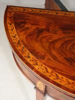 Fine Quality George III Period Demi-lune Card Table (6 of 6)