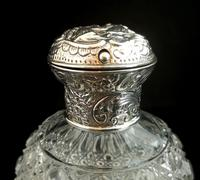 Antique Victorian Scent Bottle, Cut Glass, Sterling Silver (3 of 12)