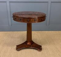 William IV Flame Mahogany Drum Table (2 of 9)