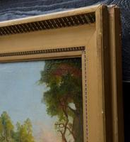Good Quality 19th Century Oil on Board, Wooded Landscape (4 of 6)