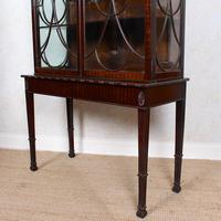 Edwardian Glazed Bookcase Cabinet on Stand Astragal Mahogany (10 of 11)