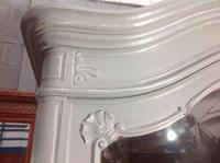 Painted French Carved Armoire in Plummet Grey (4 of 6)