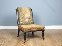 19th Century Victorian Ebonised Slipper Chair (7 of 7)