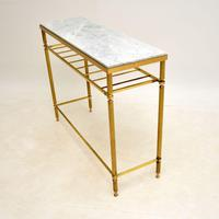 Vintage French Brass & Marble Console Table (4 of 8)