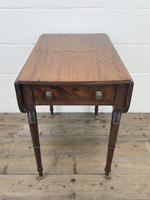 Antique Mahogany Drop Leaf Side Table (2 of 11)