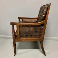 Regency Library Armchair With Leather Cushions (8 of 8)