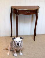 French Mahogany Demi Lune Table (6 of 10)