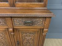 Victorian Carved Oak 3 Door Bookcase (5 of 23)