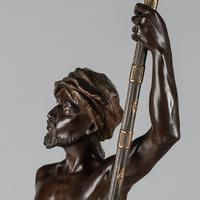 Magnificent 19th Century French Bronze Sculpture of Arabian Sentinel, Signed J.Angles (12 of 19)