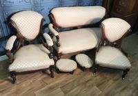 Victorian Burr Walnut & Inlaid Salon Suite (2 of 38)