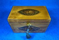 Late 18th Century Fruitwood and Applewood Twin Tea Caddy (13 of 21)