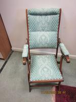 19th Century Mahogany Folding Campaign Chair (2 of 5)