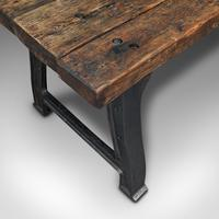 Antique Foundry Table, English, Pine, Iron, Heavy, Industrial Taste, Victorian (8 of 12)
