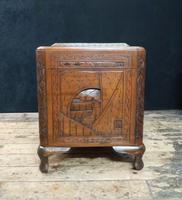 Oriental Carved Teak & Camphor Wood Chest - 1930s (14 of 15)