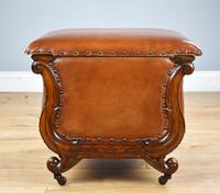 Victorian Hand Dyed Leather Ottoman (5 of 14)