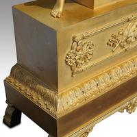Large French Empire Gilt Clock by Deniere et Fils (4 of 11)