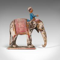 Antique Decorative Elephant and Rider, Indian, Hand Painted, Figure, Victorian (3 of 12)