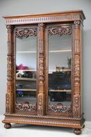 Anglo Indian Carved Rosewood Glazed Cabinet (6 of 14)