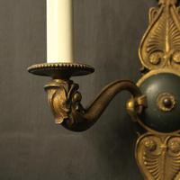 French Pair of Gilded Empire Antique Wall Lights (4 of 10)