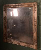 Empire Period Distressed Painted Foxed Plate Mirror (9 of 10)