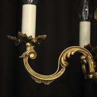 French Gilded Brass 4 Light Antique Chandelier (3 of 6)
