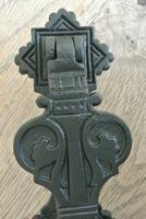 Original Aesthetic Movement Kenrick 405 Christopher Dresser Cast Iron Door Knocker c.1877 (4 of 10)