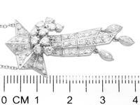 1.10ct Diamond & Palladium Tassel Pendant - Art Deco c.1935 (6 of 9)
