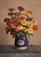 """Oil Painting by John Ernest Foster """"Summer Blooms"""" (3 of 7)"""