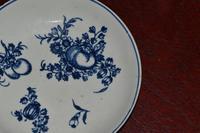 c1770- 78 Liverpool Porcelain Philip Christian Saucer Fruit Sprigs Saucer (5 of 7)