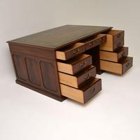Antique Mahogany Leather Top Partners Desk (10 of 12)
