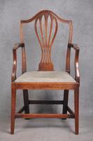 18th Century Mahogany Hepplewhite Armchair