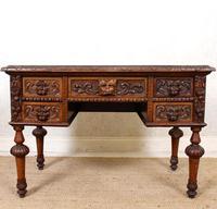 Oak Desk Green Man 19th Century (2 of 13)