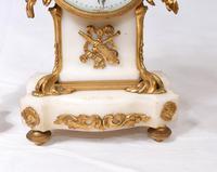 Antique Clock Set French Garniture Gilt & Marble Cherubs (9 of 14)