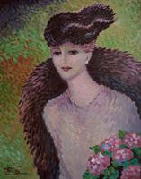 René DECAMP (XX) French School  Pointillist Mid Century (2 of 6)