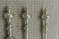 Superb Set Victorian Brass Fire Irons Larger Than Average Companion c.1890 (3 of 9)
