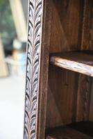 Victorian Carved Oak Bookcase (8 of 11)