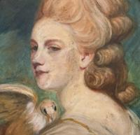 Mrs Mary Desbitt with Dove, After Sir Joshua Reynolds - Portrait Watercolour (6 of 9)