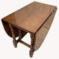 Good Quality Solid Oak Drop Leaf Table (4 of 6)