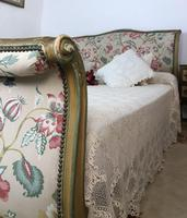 French Roll End Style Double Bed Frame With Matching Armchairs & Side Table (9 of 17)