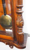 Fine Antique German Twin Walnut 8-Day Mantel Clock Vienna Striking Wall Clock (9 of 35)