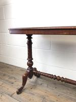 Victorian Mahogany Occasional Table with Stretcher (6 of 10)