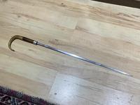 Gentleman's Walking Stick Sword Stick with Silver Collar Hallmarked Chester 1912 (17 of 25)