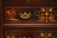 Antique Victorian Inlaid Mahogany Wardrobe by James Shoolbred (6 of 17)