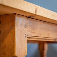 """""""h"""" Stretcher Pine Kitchen Table (5 of 8)"""