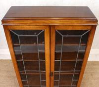 Oak Leaded Glass Bookcase (5 of 15)