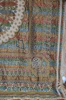 Large Vintage Middle Eastern Embroidered Silk Wall Hanging (8 of 10)