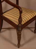 Rare Set of 10 Regency Period Mahogany Dining Chairs (8 of 17)